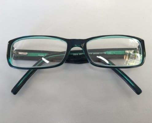Brille Schwarz Grün